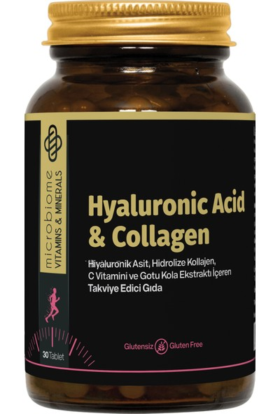 Microbiome Hyaluronic Acid & Collagen 30 Tablet
