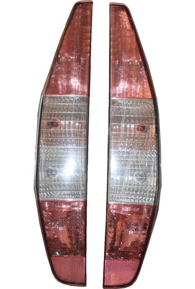 Opar Doblo Şeffaf Stop Pembe Sol-Sağ Takım
