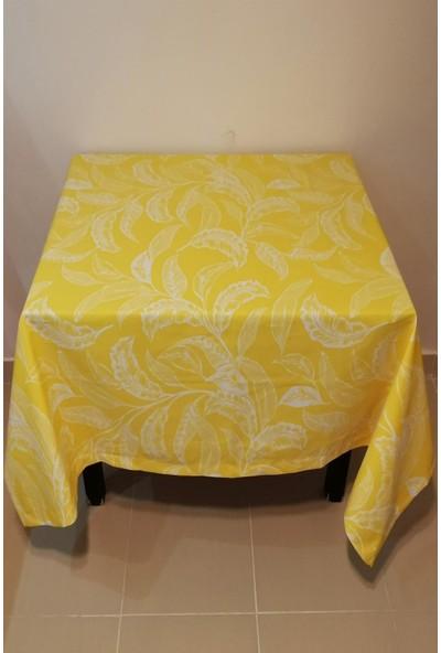 Çapa Home Duck Masa Örtüsü 160 x 160 cm Yaprak Sarı