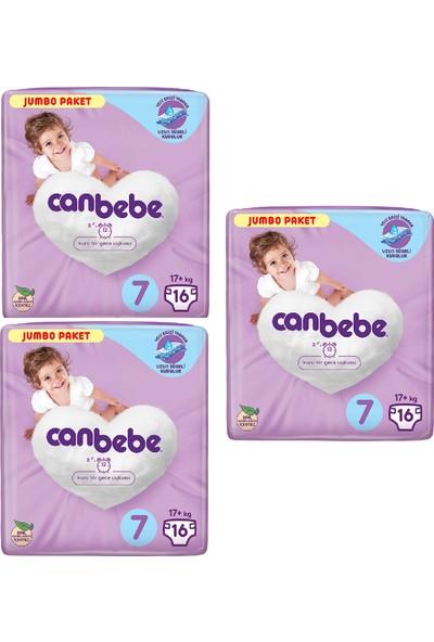 Canbebe Bebek Bezi 7 Beden 17 + kg 16'lı x 3 Paket