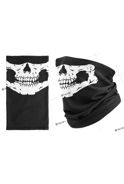 Lopron Buff Boyun Bandana Kuru Kafa Iskelet Maske Motorcu Kar Maskesi-Boyunluk-Maske-Baf-Ağızlık