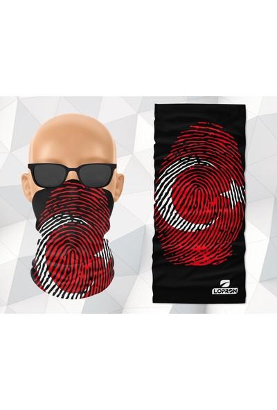Lopron Buff Boyun Bandana Ayyıldız Maske Motorcu Kar Maskesi-Boyunluk-Maske-Baf-Ağızlık