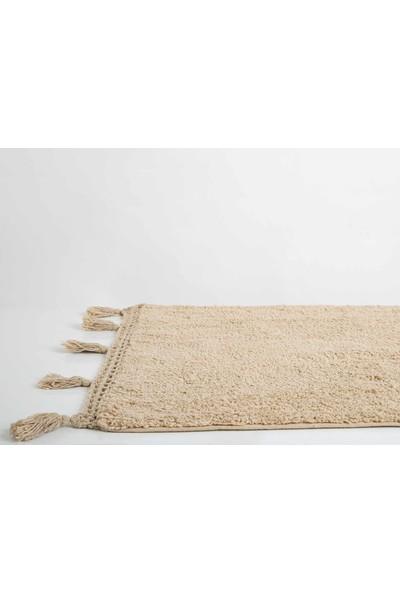 İrya Janel Bej 40 x 60 cm - 60 x 80 cm Banyo Paspası Takımı
