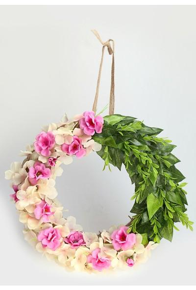 Kibrithane Çiçek Kapı Süsü Yapay Çiçek Gül Aranjman KC00200827