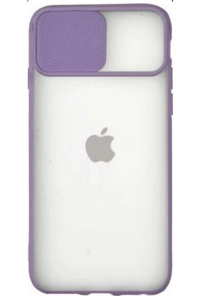 Lea Shopping Apple iPhone 8 Kamera Lens Korumalı Sürgülü Lüx Kılıf Lila