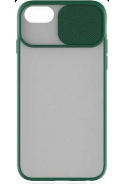 Lea Shopping Apple iPhone 8 Plus Kamera Lens Korumalı Sürgülü Lüx Kılıf Yeşil