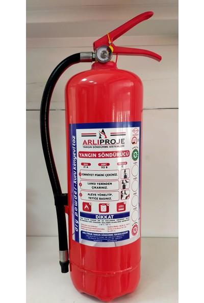 Arlı 6 kg Abc Yangın Söndürme Tüpü 4 Yıl Garantili
