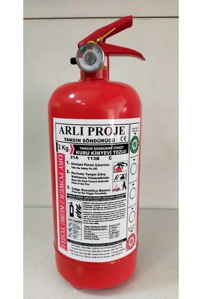 Arlı Yangın Söndürücü 2 kg Abc Kimyevi Tozlu Yangın Söndürme Tüpü 4 Yıl Garantili