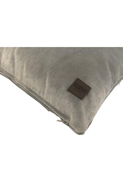 Arasta Design Açık Gri Kırlent Kılıfı Kadife Düz Renk, 43X43 cm