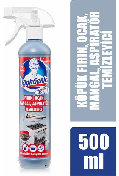 HighGenic Fırın, Ocak, Mangal, Aspiratör Temizleyici ( KÖPÜK ) 500 ml