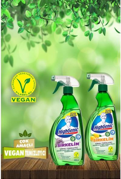 HighGenic Sirkelim Sirkeli Temizleyici ( Organik Limon Esanslı ) 1000 ml