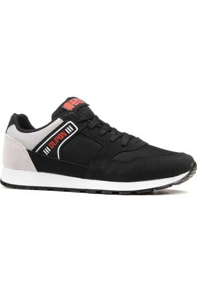 Dupon Siyah Gri Erkek Spor Ayakkabı