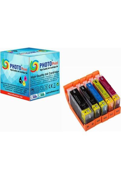 Photo Print Pixma TS9150 PGI-580XL-CLI-581XL 5 Renk Muadil Kartuş Seti