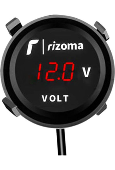 Rizoma Dijital Voltmetre Kırmızı LED Yuvarlak Model