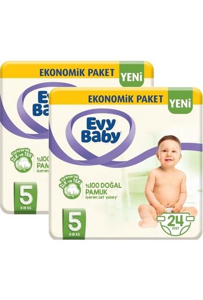 Evy Baby Bebek Bezi 5 Beden Junior 2'li Fırsat Paketi 48'li