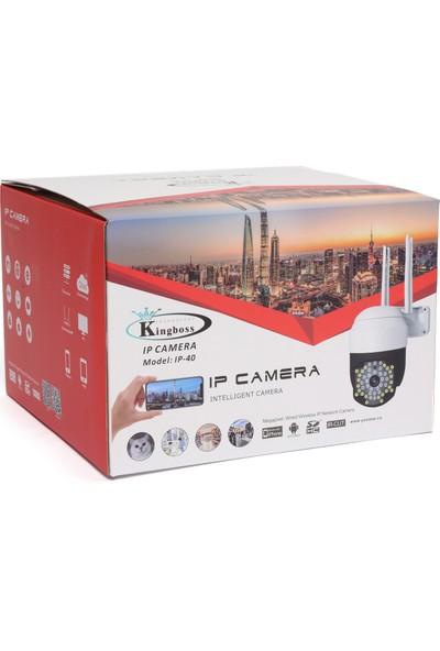 Kingboss Motorlu Ip Kamera + 1080P Speed Dome Ptz 2mp Dış Mekan IP40 48 LED