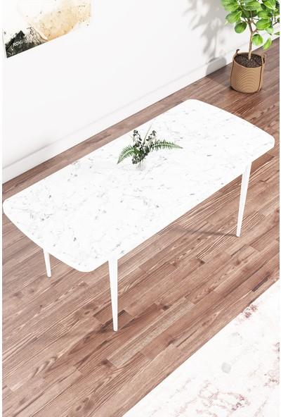 Rovena Arel Serisi Mdf, Beyaz Açılabilir Mutfak Takımı/beyaz Masa+8 Sandalye