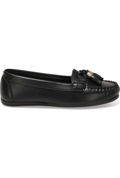 Miss F Ds20053 1Fx Siyah Kadın Loafer Ayakkabı