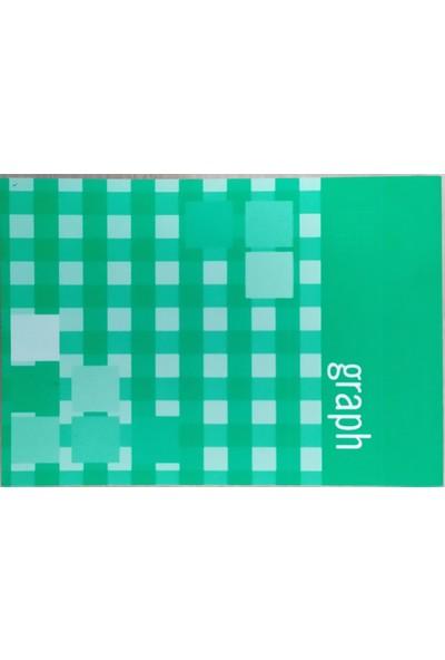 Erl 123070 A5 80 Yaprak Karton Kapaklı Kareli Bloknot