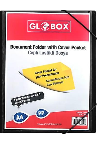 Globox 1155 Cepli Lastikli Dosya Siyah
