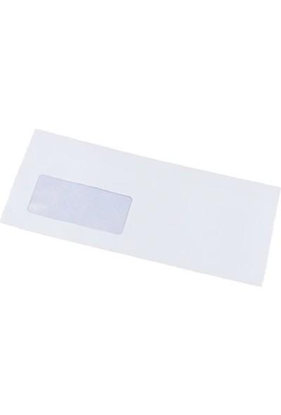Ofis Pencereli Diplomat Zarfı 110 gr 10 x 24 cm 50'li