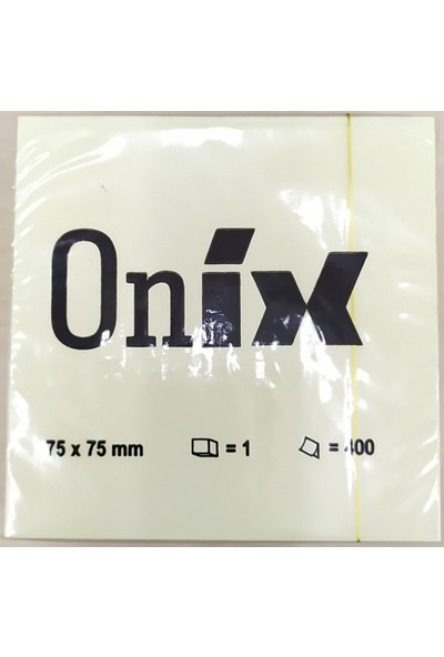 Onix 400 Yaprak Yapışkanlı Not Kağıdı 75 x 75 mm