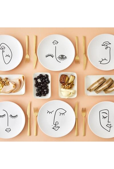 Bella Maison Face Seramik Pasta Tabağı 6′lı 20 cm