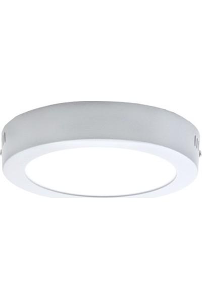 Lamptime Sıva Üstü 12W Yuvarlak LED Armatür Beyaz 4000K
