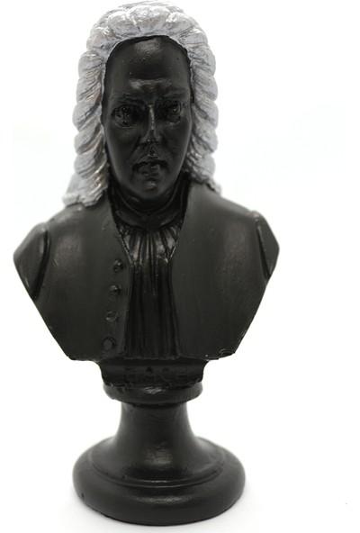 El Yapımı Bach Mini Heykel Büst 15 cm