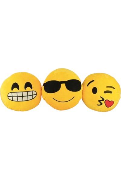 Autojoy Araç Boyun Yastığı Karakter Emoji 3'lü