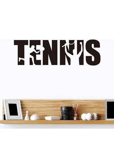 İnce Reklam 1 Parça Yaratıcı İngilizce Tenis Yatak Odası Spor Salonu Duvar Çıkartması