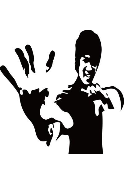 İnce Reklam Tek Parça Lee Xiaolong Çin Kung Fu Dünya Mitolojisi Karakterler Duvar Sticker