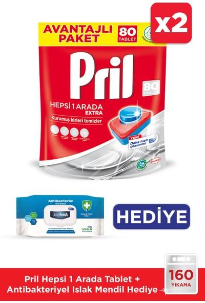 Pril Hepsi Bir Arada 80 Tabletx2 / Antibakteriyel Islak Mendil