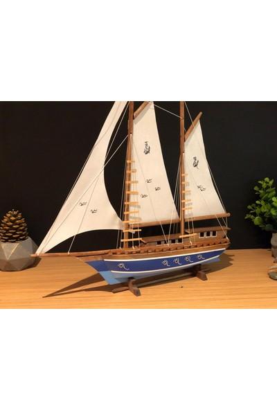 Çiko Toys Yelkenli Ahşap Gemi Maketi Büyük Boy