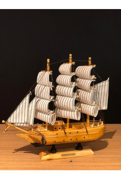 Çiko Toys Yelkenli Ahşap Gemi Maketi
