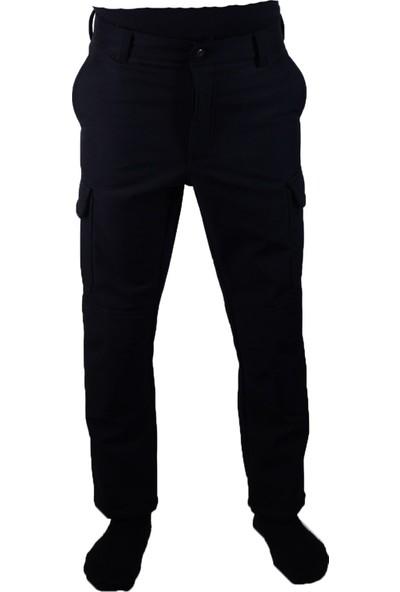 Softjel Pantolon Su Geçirmez Içi Polarlı Outdoor Cepli Pantolun Siyah