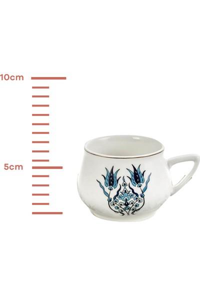 Karaca İznik Yeni Form 6 Kişilik Kahve Fincan Takımı