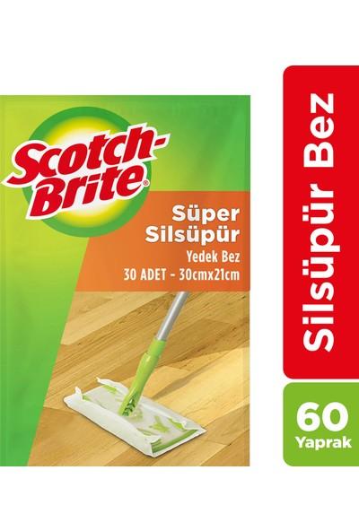 Scotch-Brıte Sil Süpür Q600 Paspas Yedek Bez 30'lu x 2 (60 Yaprak)