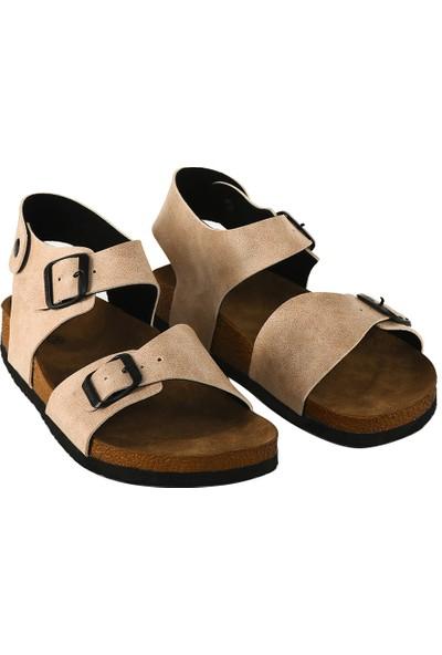 JustBow Bej Sandalet