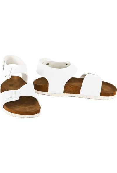 JustBow Beyaz Sandalet