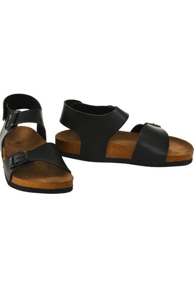 JustBow Siyah Sandalet