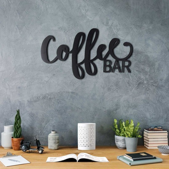 Bystag Coffee Bar Dekoratif Metal Duvar Tablosu