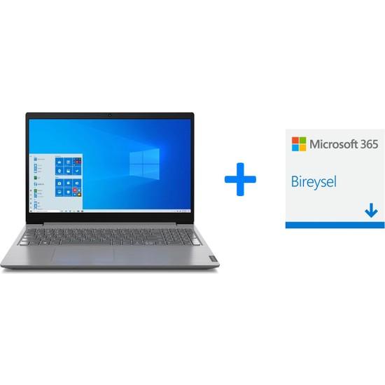 """Lenovo V15 IIL Intel Core i3 1005G1 8GB 256GB SSD Windows 10 Home 15.6"""" FHD Taşınabilir Bilgisayar 82C500QTTX + Microsoft 365 1 Yıllık Dijital Bireysel"""