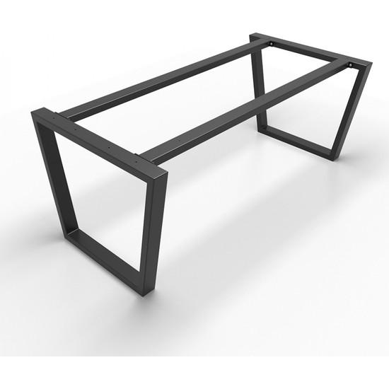 Abronya Masa Ayağı Yemek Salon Ofis Ahşap Cafe Mutfak Yemek Masası Metal Masa Ayağı 1 Takım
