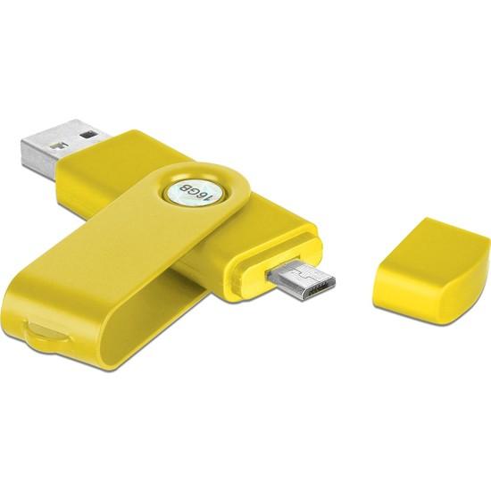 Baskı Adresi Isme Özel Sarı 16 GB USB Bellek Kutulu
