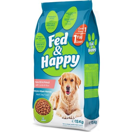 Fed & Happy Kuzu Etli & Pirinçli Yetişkin Köpek Maması 15KG
