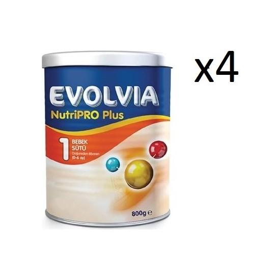 Evolvia Nutripro Plus 1 Bebek Sütü 800GR 4'lü Avantaj Paketi