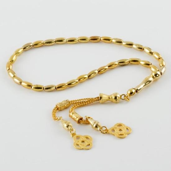 Ottoman Altın Görünümlü Sarı Renk Metal Tesbih