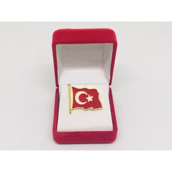 Merit Collection Büyük Dalgalı Türk Bayrağı Yaka Rozeti