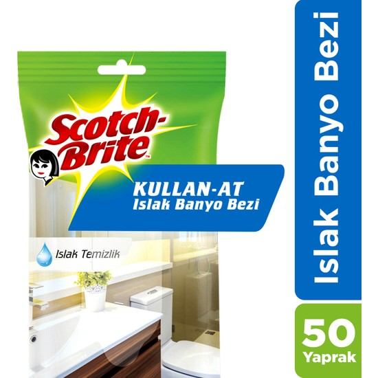 Scotch Brite Kullan At Islak Banyo Bezi 50 Yaprak
